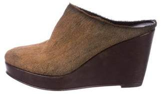Henry Cuir Ponyhair Round-Toe Mules