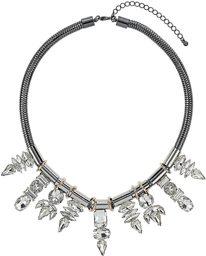 Topshop Premium Nine Rhinestone Necklace