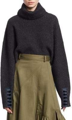 3.1 Phillip Lim Folk Turtleneck Crop Sweater