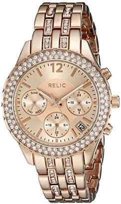 Relic Women's ZR15787 Merritt Analog Display Crystal-Accent Rose-Tone Bracelet Watch