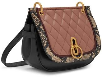 At Mulberry Small Amberley Satchel Dark Blush Black Cream And Burgundy Quilted Smooth Calf