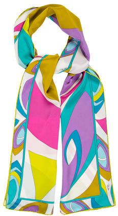 Emilio PucciEmilio Pucci Abstract Print Silk Scarf