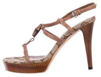 Gucci Bamboo Platform Sandals