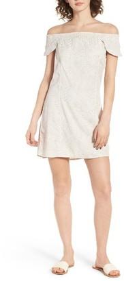 Women's Obey Skylar Off The Shoulder Dress $62 thestylecure.com