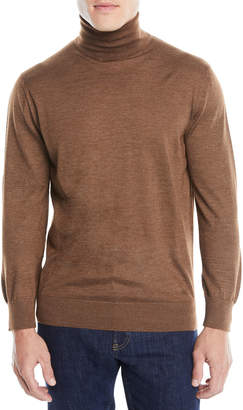 Ermenegildo Zegna Men's Textured Cashmere-Silk Turtleneck Sweater