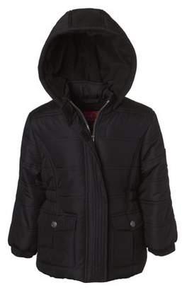 Pink Platinum Classic Hooded Puffer Jacket (Little Girls & Big Girls)