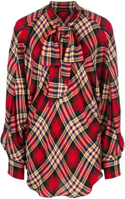 Alexandre Vauthier oversized plaid blouse