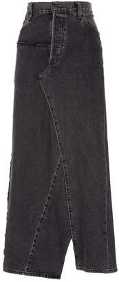 Vetements Long Denim Skirt