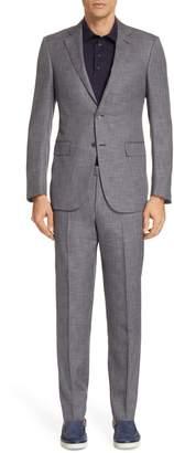 Ermenegildo Zegna Milano Trim Fit Solid Wool & Silk Suit