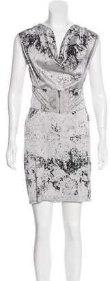 Improvd Printed Satin Dress