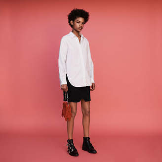 Maje Oversized shirt with grosgrain
