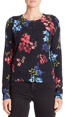 Lord & Taylor Floral Cashmere Cardigan $228 thestylecure.com