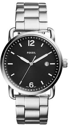 Fossil The Commuter Stainless Steel Link Bracelet Watch
