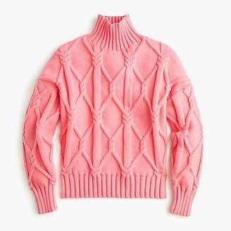 Azalea Collection cable-knit mockneck sweater in dusty