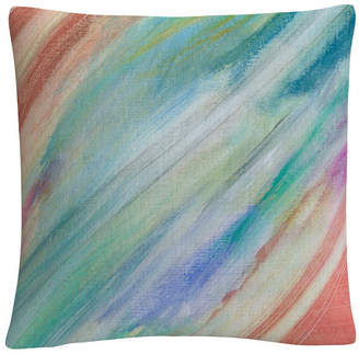 "Anthony Logistics For Men Baldwin Sorbet Skies Colorful Shapes Line Composition 16x16"" Decorative Throw Pillow by Sikich"