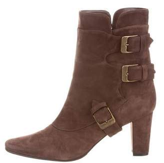 cf68312c5f003 Manolo Blahnik Buckle-Accented Mid-Calf Boots