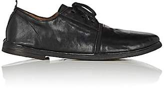 Elia Maurizi Men's Elastic-Vamp Leather Bluchers - Black