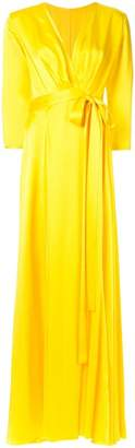 Rhea Costa structured satin dress