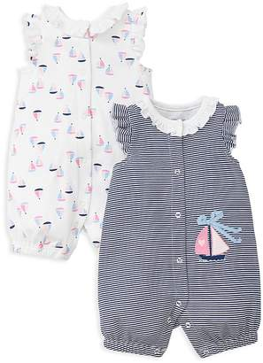 Little Me Girls' Sailboat Rompers, Set of 2 - Baby