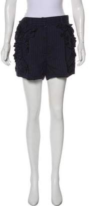 Marc Jacobs Linen-Blend High-Rise Shorts