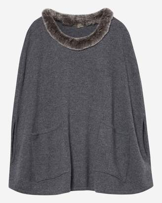 N.Peal Fur Pocket Cashmere Poncho