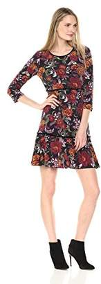 MSK Women's Floral Fit and Flare