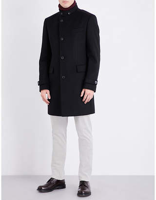 Boss Black Formal Wool and cashmere-blend coat