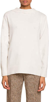 Chloé Cashmere Open-Back Sweater