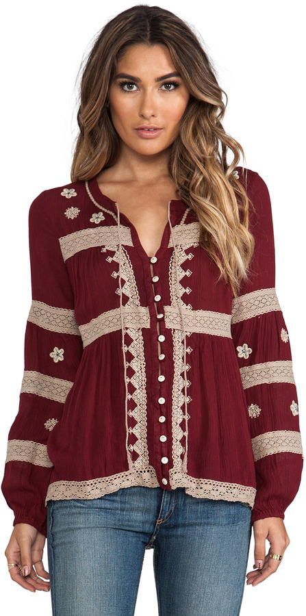 Free People Iris Boho Top