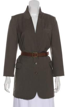 Elizabeth and James Wool Button-Up Jacket