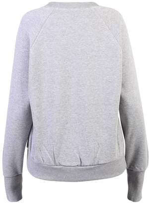 Burberry Embroidered Cotton Blend Sweatshirt