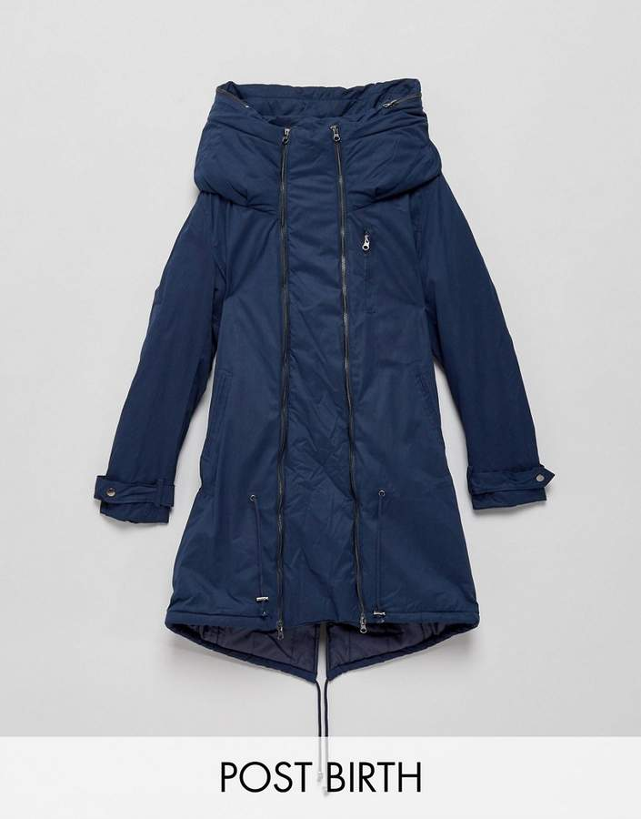 Mama Licious Mama.licious Mamalicious Padded Parka Jacket With Carry Me Functionality
