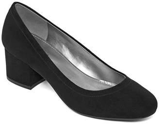 WORTHINGTON Worthington Womens Lana Pumps Slip-on Round Toe Block Heel