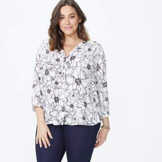 NYDJ Pintuck Blouse In Plus