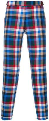 Thom Browne Gingham Tartan Twill Skinny Trousers