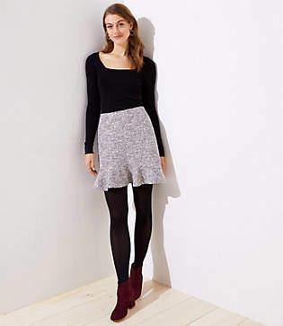LOFT Petite Shimmer Flippy Skirt