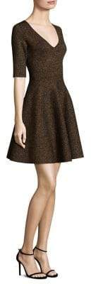 Milly Double-knit Flare Dress
