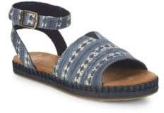 Toms Girl's Malea Printed Ankle Strap Sandals