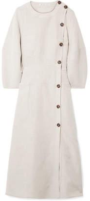 REJINA PYO - Michaela Canvas Midi Dress - Light gray