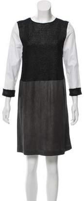 Markus Lupfer Textured Colorblock Dress