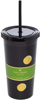 Kate Spade Scatter dot tumbler with straw