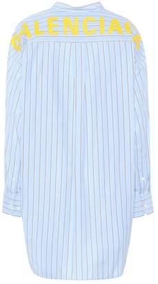 Balenciaga Swing striped cotton shirt
