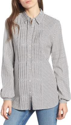 Scotch & Soda Stripe Pleat Shirt