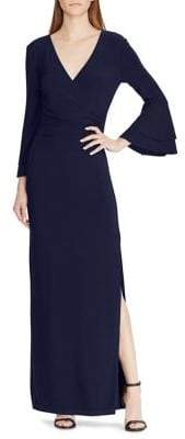 Lauren Ralph Lauren Long Wrapped Jersey Dress