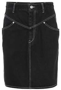 Isabel Marant Lorine high-rise denim skirt