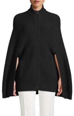 Akris Punto Cape-Sleeve Zip Sweater