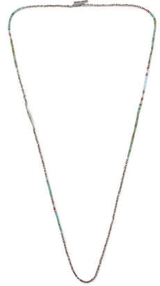 M. Cohen Oxidised Sterling Silver Multi-Stone Necklace