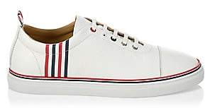Thom Browne Men's Calssic Cap Toe Pebbled Leather Sneakers