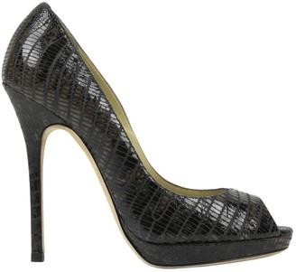 Jimmy Choo Anthracite Lizard Heels