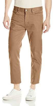 Obey Men's New Threat Flooded Twill Cut Pant